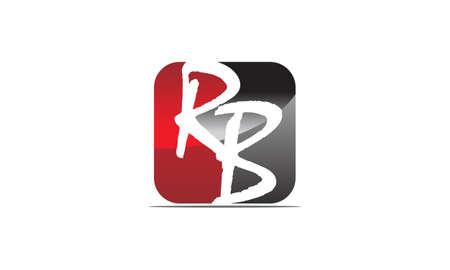 R: Modern Solution Letter R B logo