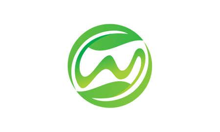 Health Life Center Initial W logo