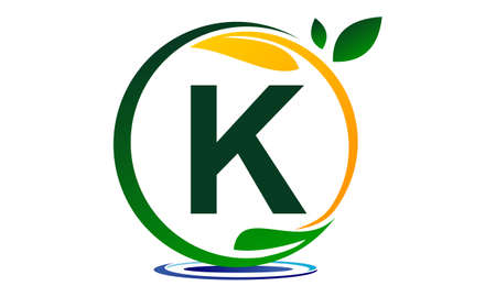 Solution de projet écologique Lettre K. Banque d'images - 89587382