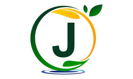 녹색 프로젝트 솔루션 문자 J. 일러스트