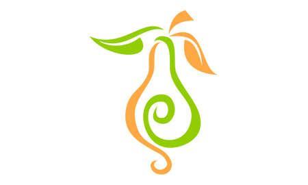 leaf logo: Pear Logo Design Template Vector. Illustration