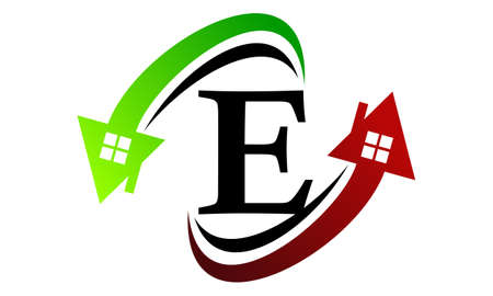 Real Estate Letter E Illustration