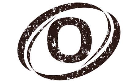 Letter O Rough Logo vector illustration.