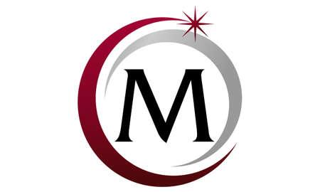 Modern solutions letter M logo flat design for branding