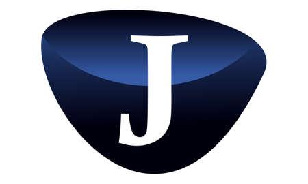 Modern solution letter J logo flat design for branding Illustration