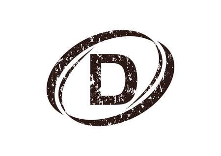 Modern letter d logo flat design for branding