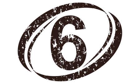 Modern number 6 logo flat design for branding