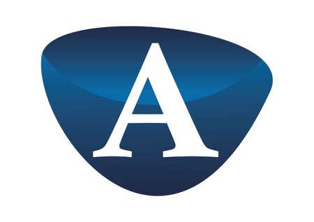 Modern solution letter a logo flat design for branding