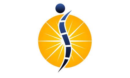 Orthopedic solutions logo flat design for branding Illustration