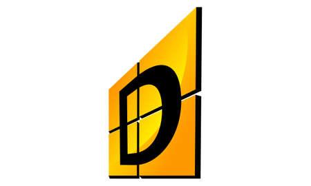 Modern Logo Solution Letter D Illustration