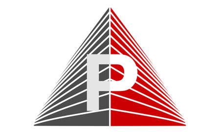 Letter P logo for Real Estate Illustration