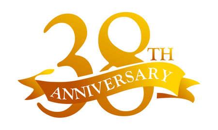 38 Year Ribbon Anniversary