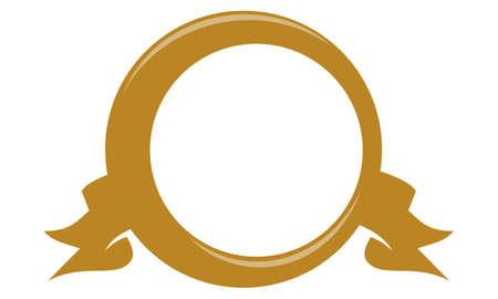 button: Template Emblem Blank  Illustration