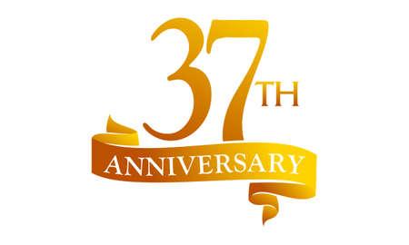 37 Year Ribbon Anniversary