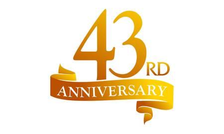 43 Year Ribbon Anniversary