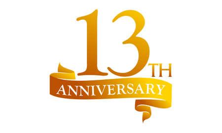 13 Year Ribbon Anniversary