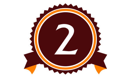 Modern Number 2 badge