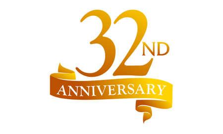 32 Year Ribbon Anniversary