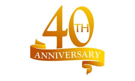 40-jarig jarig jubileum