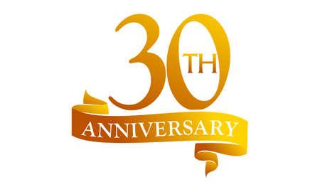 30 Year Ribbon Anniversary Ilustração