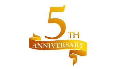 5 Year Ribbon Anniversary