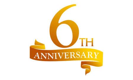 6 Year Ribbon Anniversary