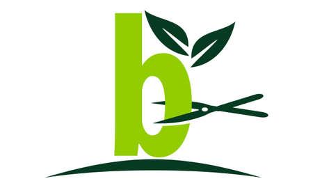 Letter B Lawn Illusztráció