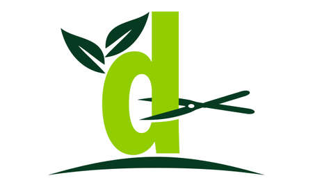 Letter D Lawn Illustration