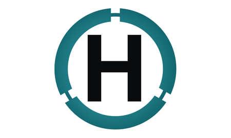 asociacion: Modern icon Solution Letter H