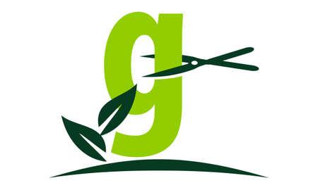 Letter G Lawn Illustration