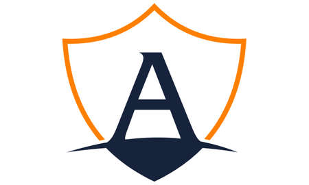asociacion: Modern Shield Letter A Vectores