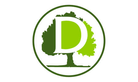 Oak Tree Letter D emblem template Banco de Imagens - 90073495