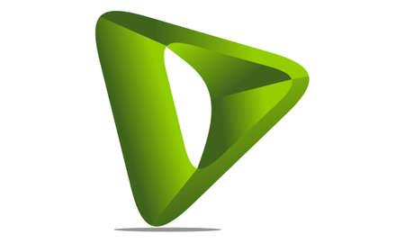 Letter D Modern emblem template Illustration