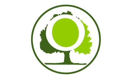 Oak Tree Letter O vector illustration. Ilustração