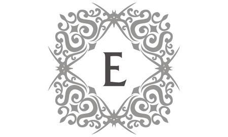 Modern Letter E vector illustration.