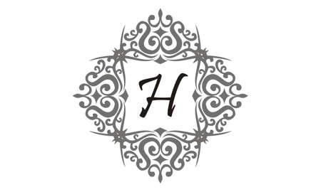 Modern Letter H vector illustration. Ilustração