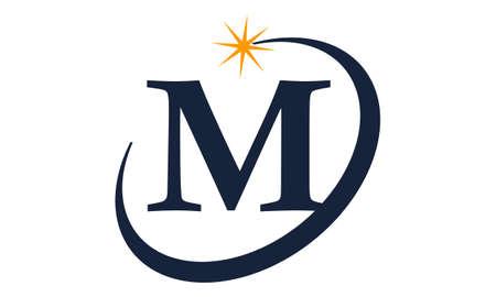 Moderner Lösungsbuchstabe M Standard-Bild - 90154634