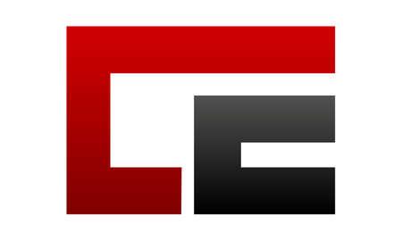 Letter C E Modern vector illustration. Ilustracja