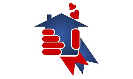 Home Real Estate Love Illustration