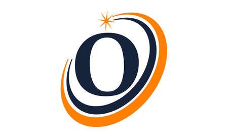 Modern Solution Letter O emblem vector