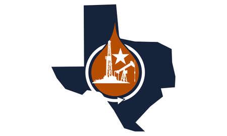 Wydobywanie ropy naftowej Texas Energy Advantage Ilustracje wektorowe