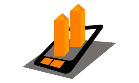 Mobile app real estate Illustration