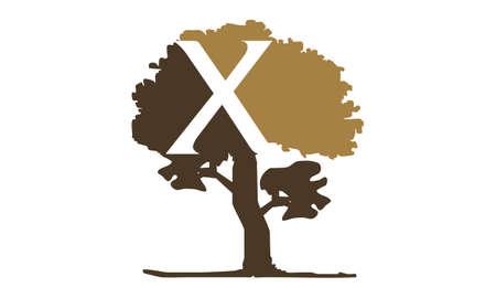 Tree letter x