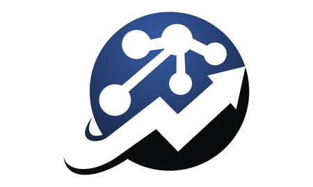 Boost Marketing Network  logo concept design.