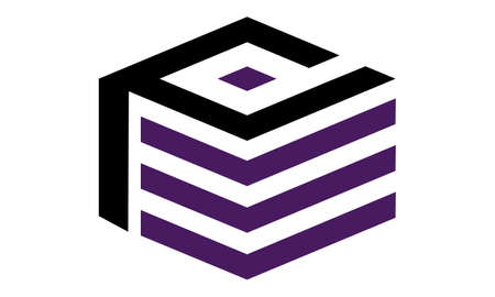 Letter P D Modern  logo concept design.