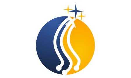Technology Solutions logo design concept. Illustration