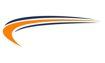 Koncepcja projektowania logo szablon Swoosh. Logo
