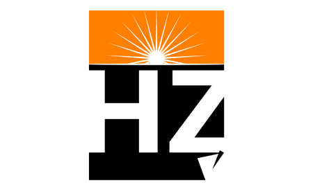 Letter HZ Solution Modern logo design concept.