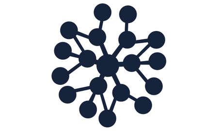 Boost Marketing Network logo design concept. Illustration