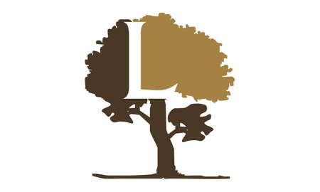 Tree with Letter L